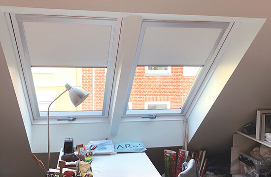 Interior design roof windows